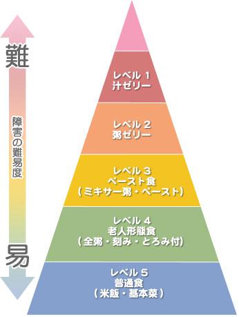 嚥下食ピラミッドに沿った食事段階