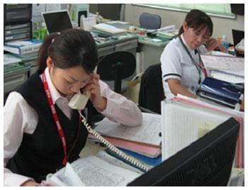 他病院、患者さんの家族の方より直接等電話の対応